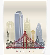 Dallas Skyline Poster Poster