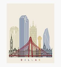Dallas skyline poster Photographic Print