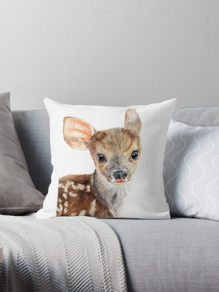 Cute Baby Deer/ Fawn by Sarah Ludar-Smith