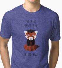 A Red Panda Graduation Tri-blend T-Shirt