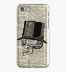 Death Skull with Victorian Hat iPhone Case/Skin