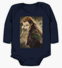 Tauriel Portrait- The Hobbit, Desolation of Smaug One Piece - Long Sleeve