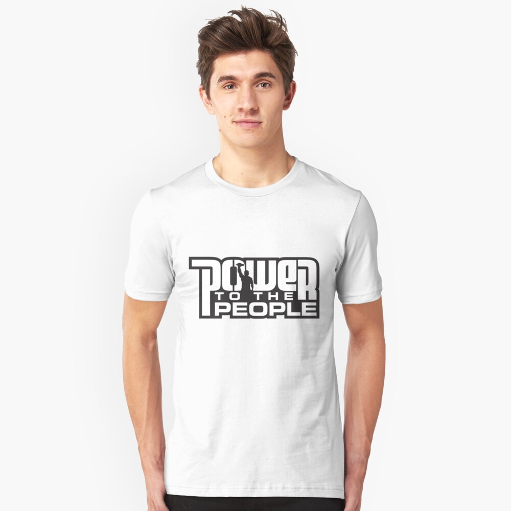 Power To The People - WHITE Slim Fit T-Shirt