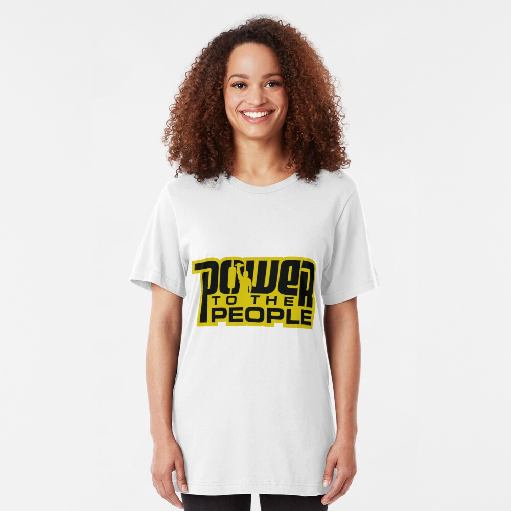 Power To The People - GOLD Slim Fit T-Shirt