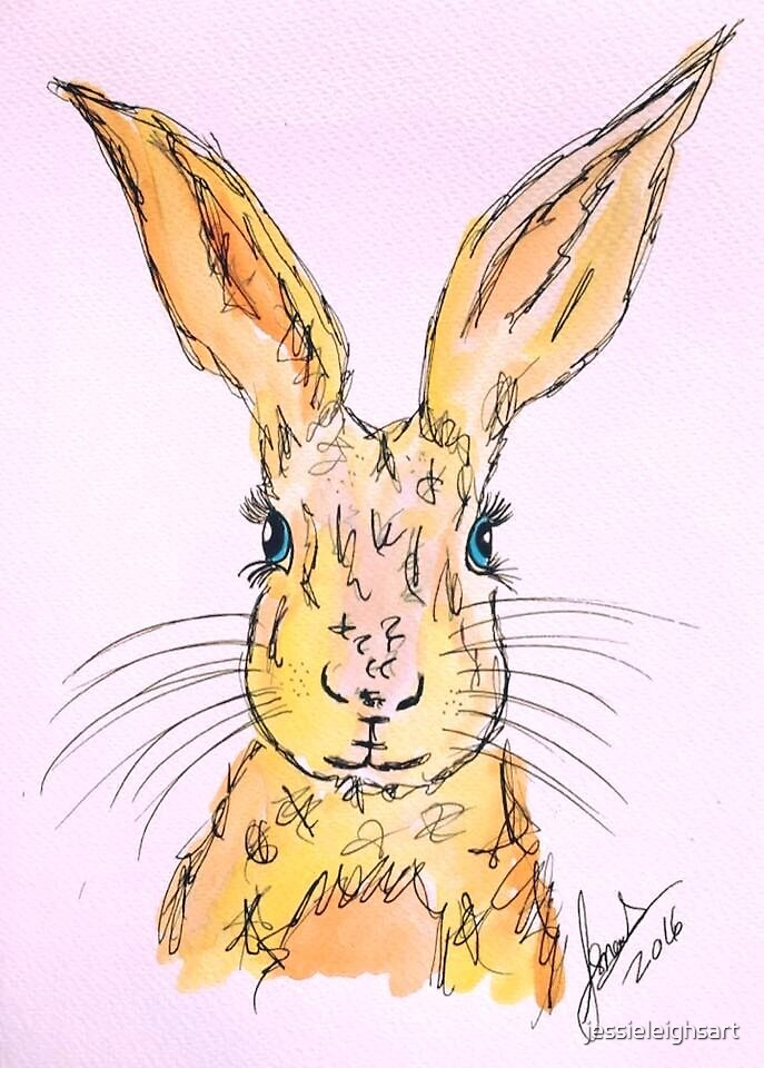 yellow hare by jessieleighsart