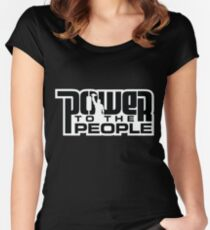 Power To The People - BLACK Women's Fitted Scoop T-Shirt