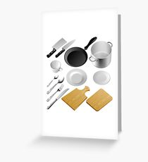 Kitchen tools Greeting Card