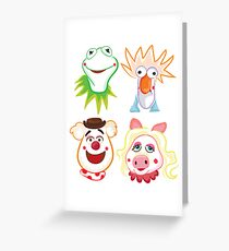 Muppets Greeting Card