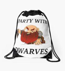 I party with dwarves Drawstring Bag