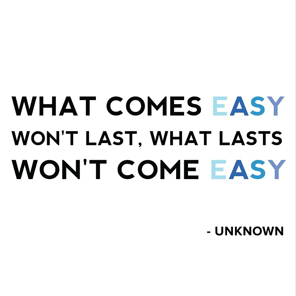What comes easy by lizer