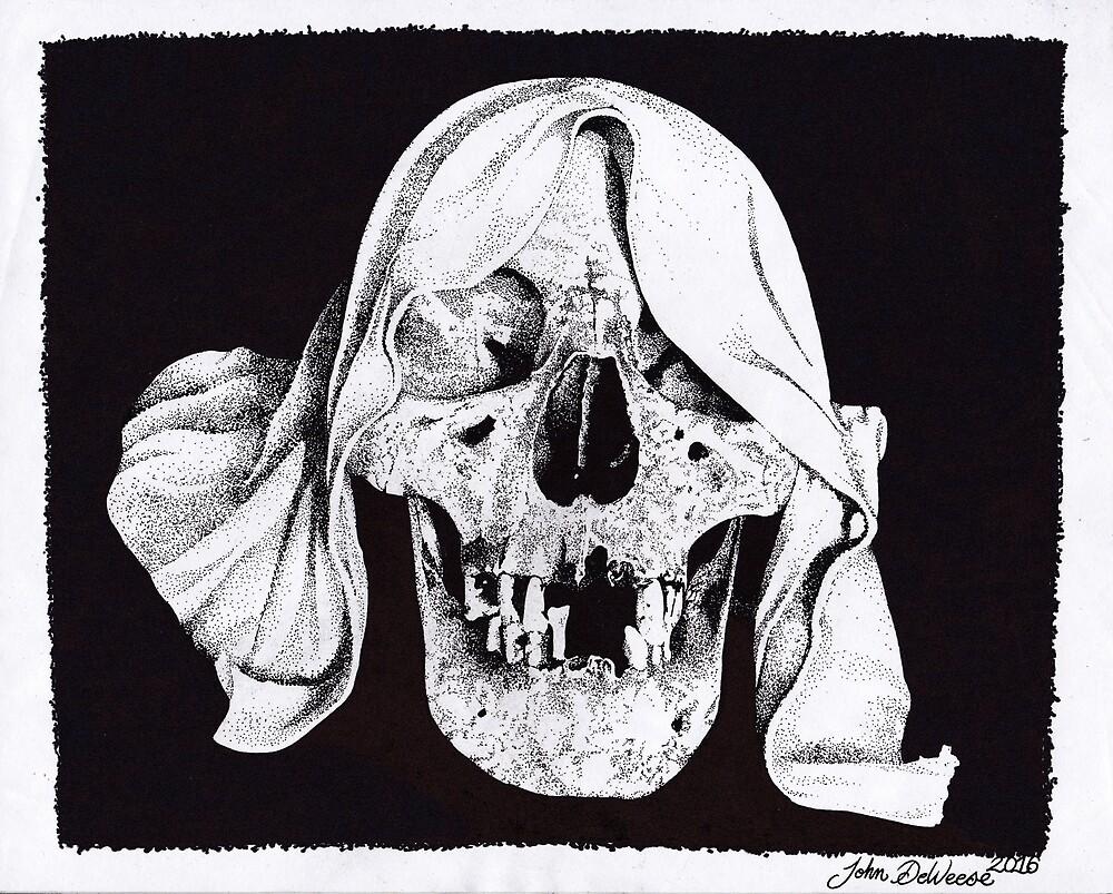Original Sharpie Drawing of Reaper Skull by johndeweese