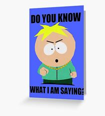South Park - Butters Stotch Greeting Card