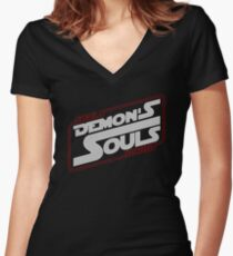 Demon's Wars ! Women's Fitted V-Neck T-Shirt
