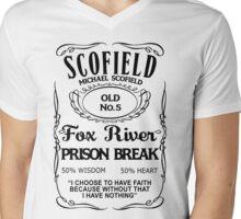 Michael Scofield - White Version Mens V-Neck T-Shirt