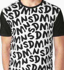 SDMN Repeat Text (White) Graphic T-Shirt