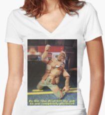 Brad is plastered Women's Fitted V-Neck T-Shirt