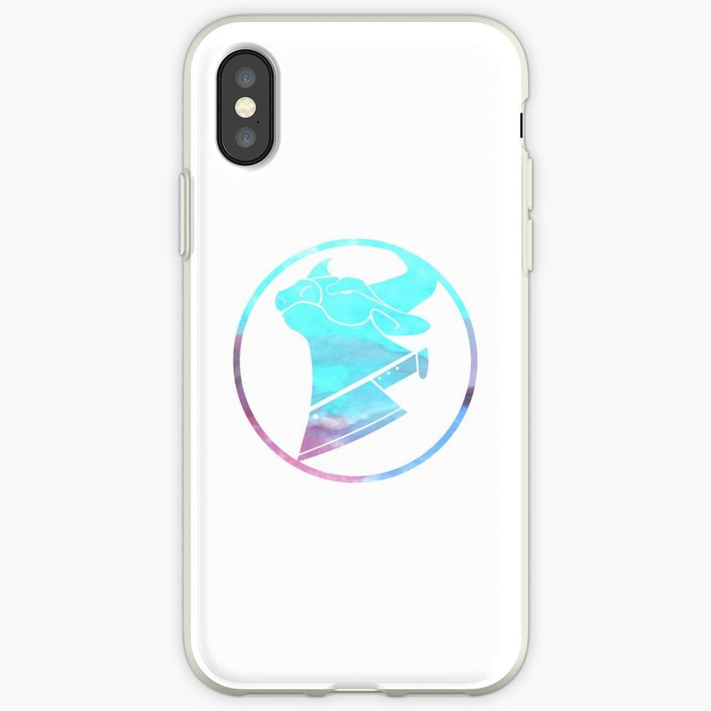 Kuh-Hacken-Wasserfarblogo iPhone-Hülle & Cover