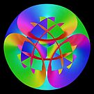 Fractal Rainbow Mandala by pelmof
