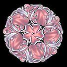 Satin Ribbon Knot Fractal Mandala by pelmof