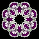 Silver Leafy Mandala by pelmof