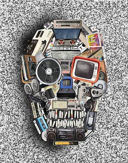 retro tech skull 3 by BekimART