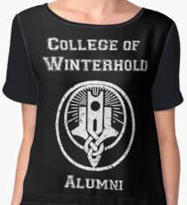 College of Winterhold Alumni Women's Chiffon Top