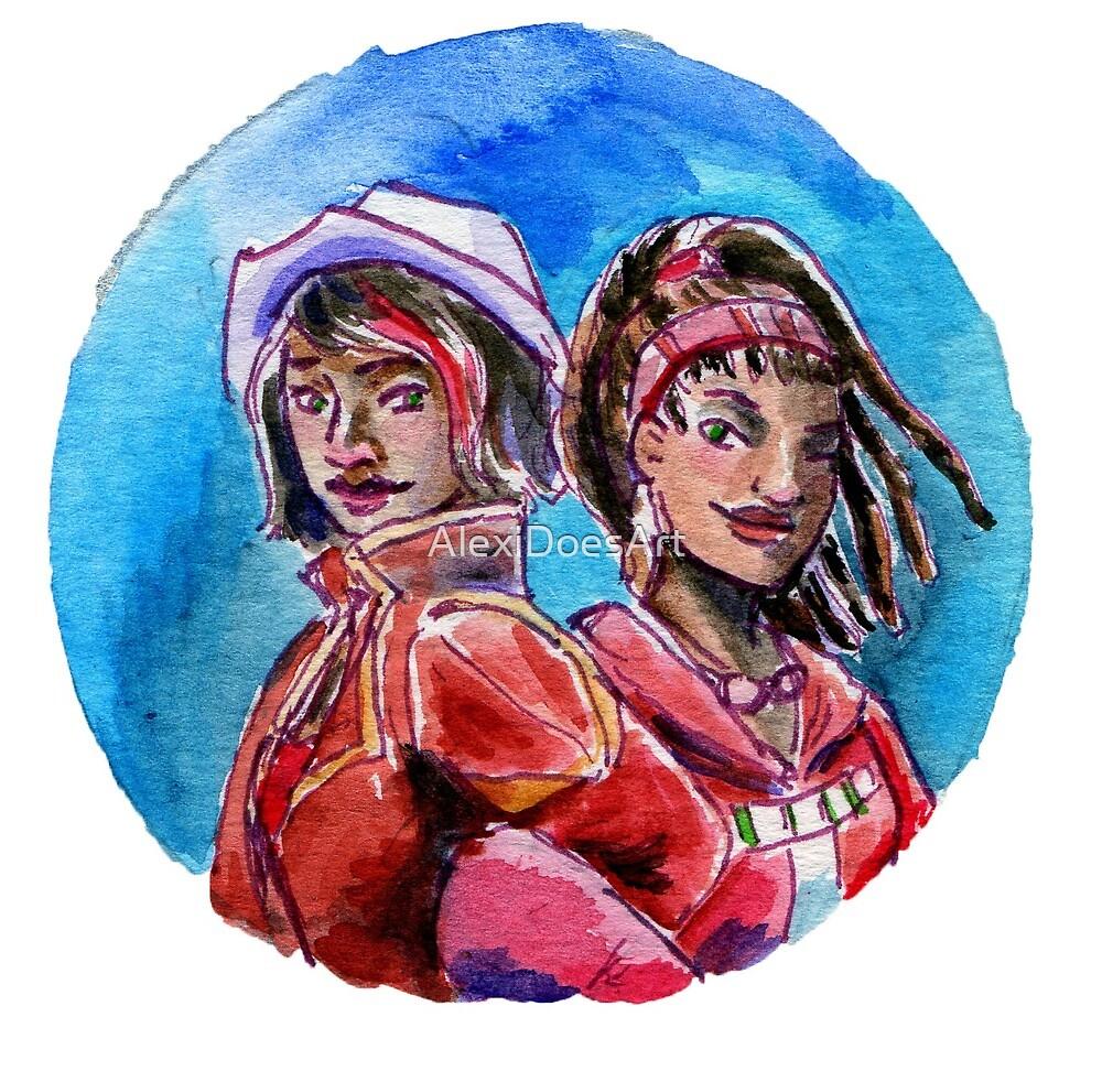 Pandora Sisters by AlexiDoesArt