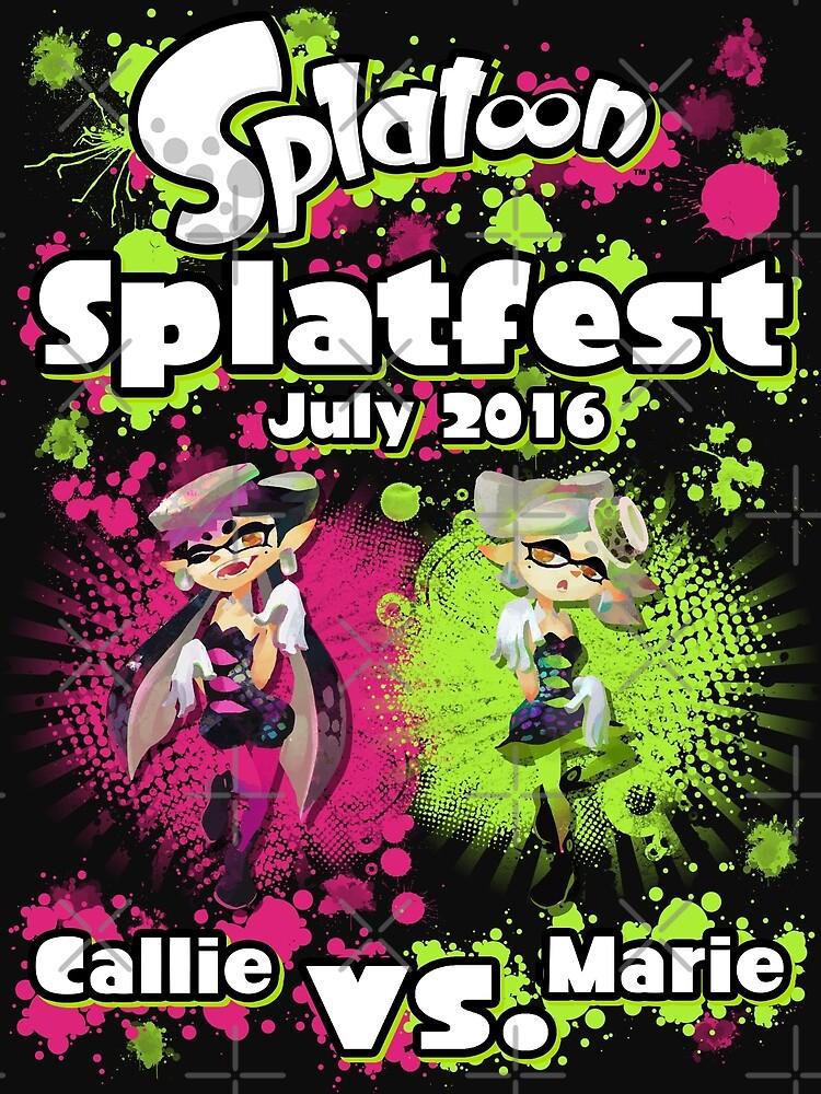 Splatfest July 2016 - Callie v Marie by KumoriDragon