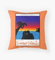 Summer Islands Tourism Throw Pillow