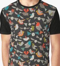 nur Vögel dunkel Grafik T-Shirt