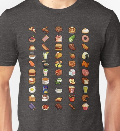 8Bit Pixel Food Unisex T-Shirt