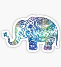 Colorful Elephant Glitter Texture Sticker