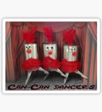 Can-can dancers Sticker