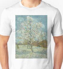 Vincent Van Gogh - The Pink Peach Tree. Garden landscape: garden view, trees and flowers, blossom, nature, botanical park, floral flora, wonderful flowers, plants, cute plant, garden, flower Unisex T-Shirt