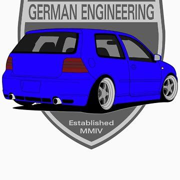 German Engineering -Blue by VolkWear