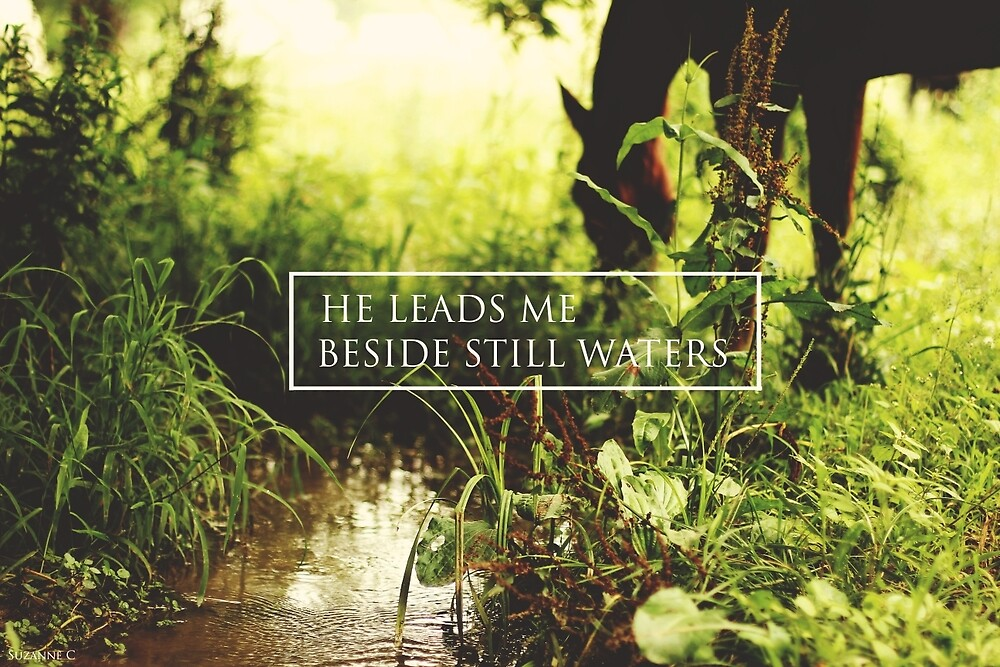 He leads me beside still waters by Suzanne Charette
