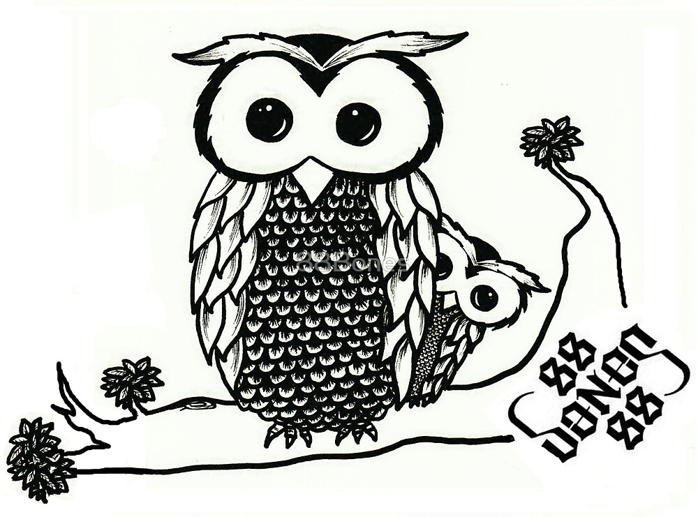 Owl and Owlet by 88Bones