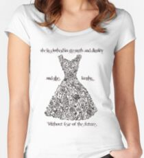 The Vintage Dress - Proverbs 31:25 Women's Fitted Scoop T-Shirt