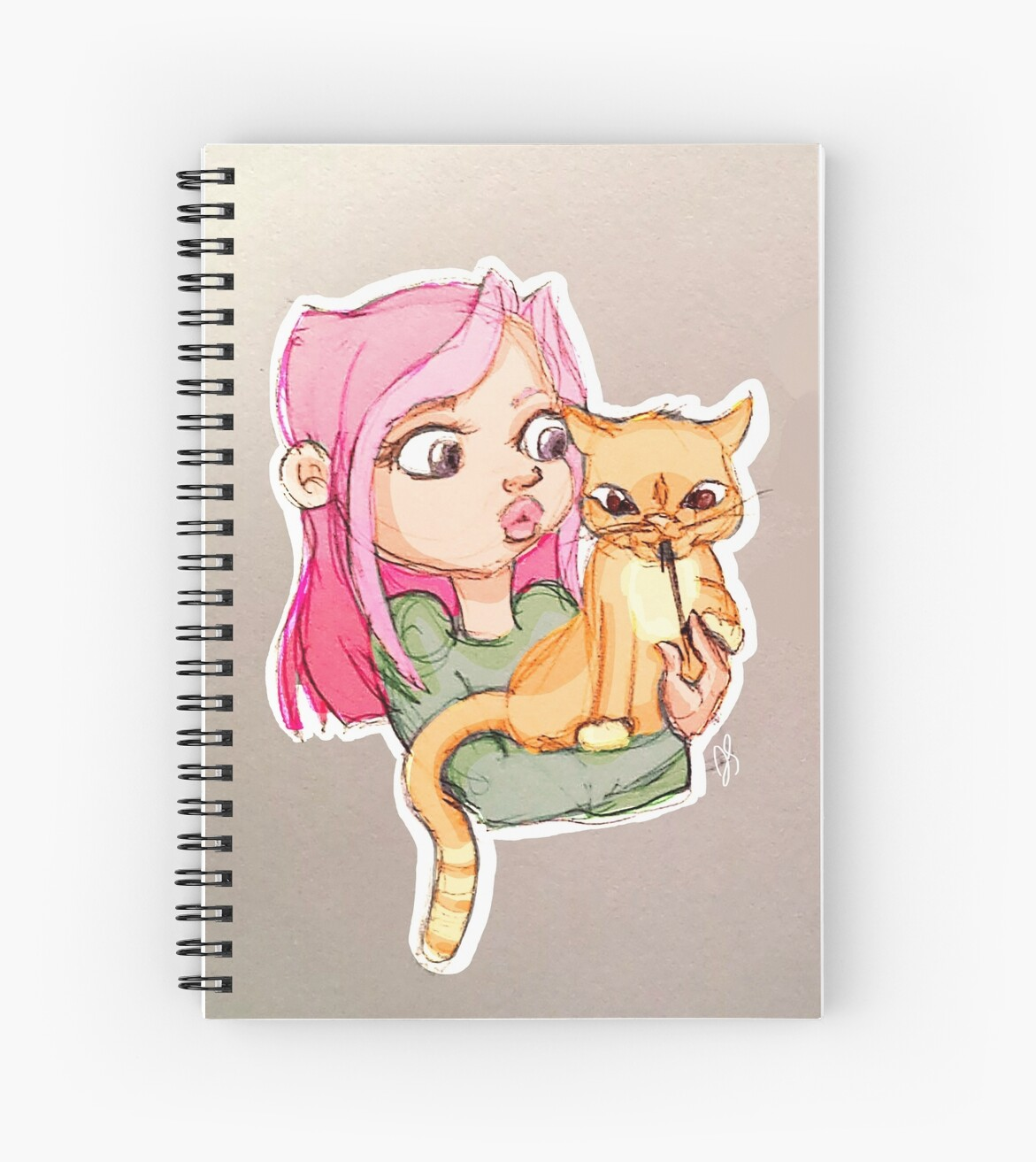 girl with cat by Jenna Staller