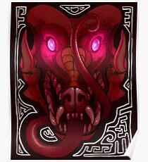 Pink-Eyed Dragon Poster