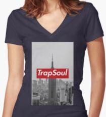 ESB: TrapSoul Women's Fitted V-Neck T-Shirt