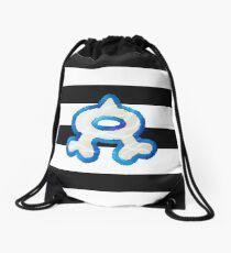 Team Aqua Stripes Drawstring Bag