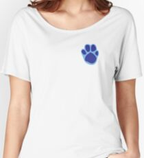 Blue's Paw Print Pattern Women's Relaxed Fit T-Shirt