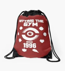 Hitting The Pokemon Gym Drawstring Bag