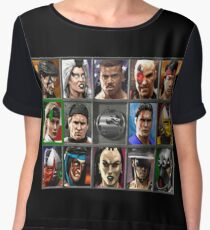 Mortal Kombat 3 Character Select Chiffon Top