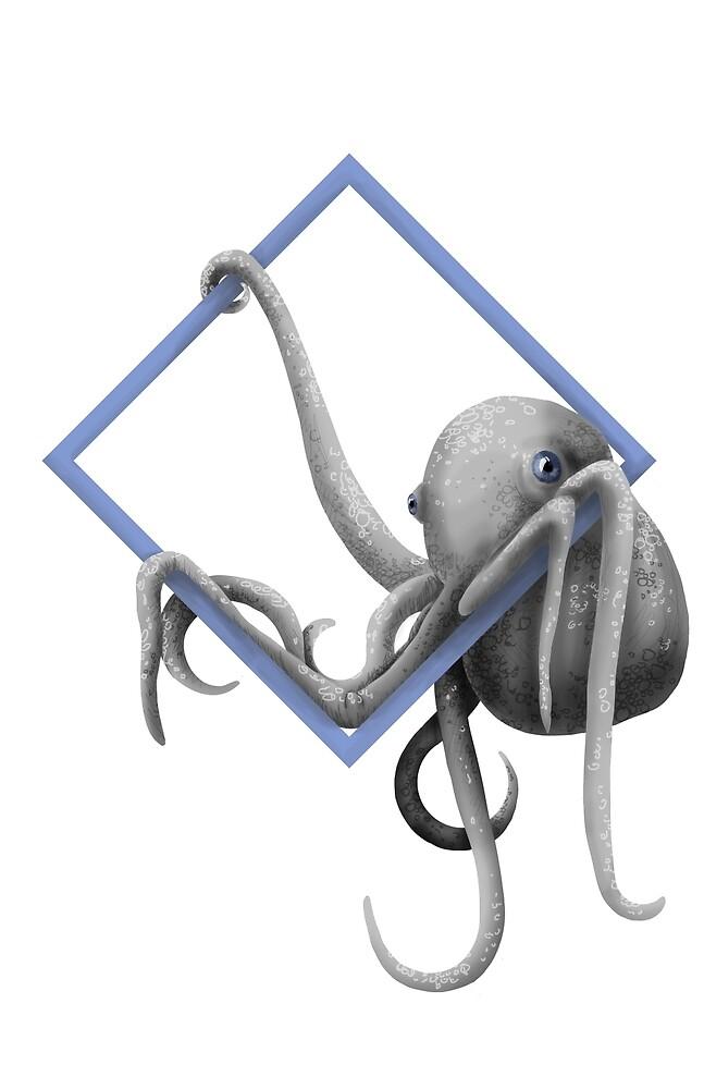Hanging Octopus by CAROLAPELLEGRIN