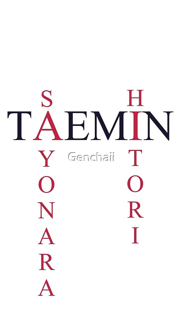Sayonara Hitori Taemin simple text design by Genchaii