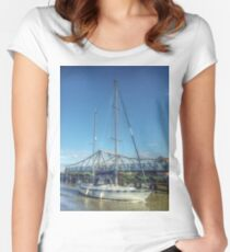Reedham Swing Bridge and Jo-lene Women's Fitted Scoop T-Shirt