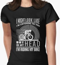 I'm Riding My Bike Women's Fitted T-Shirt