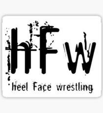 Heel/Face Wrestling World Order Sticker